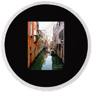 The Beauty Of Venice Round Beach Towel