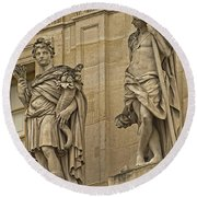 The Beauty Of Versailles - 3 Round Beach Towel