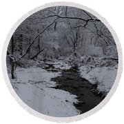 The Beauty Of Winter Round Beach Towel