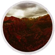 The Beauty Of Zion Natinal Park Round Beach Towel