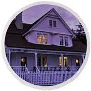 The Bed And Breakfast At Heceta Round Beach Towel