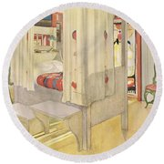 The Bedroom, Published In Lasst Licht Round Beach Towel