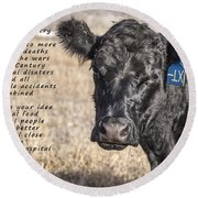 The Beef Industry Round Beach Towel