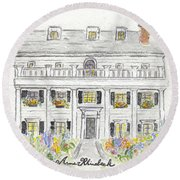 The Beekman Arms In Rhinebeck Round Beach Towel