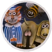 The Bees Knees The Cats Pyjamas And The Dogs Bollocks Round Beach Towel