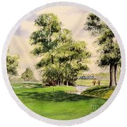 The Belfry Brabazon Golf Course 10th Hole Round Beach Towel
