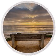 The Bench Iv Round Beach Towel