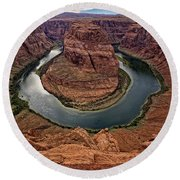 The Bend In The River Round Beach Towel