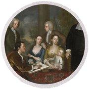 The Bermuda Group, Dean Berkeley And His Entourage, 1728 Round Beach Towel