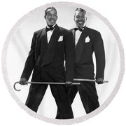 The Berry Brothers Dance Team Round Beach Towel