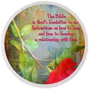 The Bible Round Beach Towel