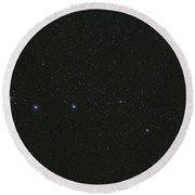 The Big Dipper And Comet Catalina Round Beach Towel