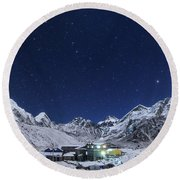The Big Dipper Rise Above The Himalayas Round Beach Towel