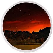 The Big Dipper Round Beach Towel
