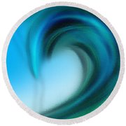 The Big Wave Of Hawaii 6 Round Beach Towel