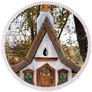 The Birdhouse Kingdom - Steller's Jay Round Beach Towel