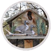 The Birdhouse Kingdom - The Geese A Swimming Round Beach Towel