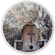 The Birdhouse Kingdom - The Olive-sided Flycatcher Round Beach Towel