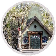 The Birdhouse Kingdom - The Western Tanager Round Beach Towel
