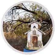 The Birdhouse Kingdom - Wilson's Warbler Round Beach Towel