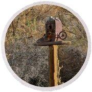 The Birdhouse Kingdom - Cowbird Home Round Beach Towel