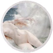 The Birth Of Venus Round Beach Towel by Henri Gervex