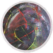 The Black Hole Round Beach Towel