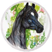 The Black Horse 1 Round Beach Towel
