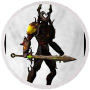The Black Knight... Round Beach Towel