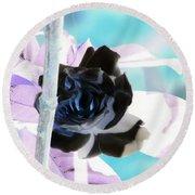 The Black Rose Round Beach Towel