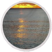 The Black Sea In A Swath Of Gold Round Beach Towel