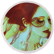 The Bleeding Dream - Self Portrait Round Beach Towel
