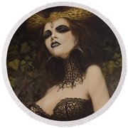 The Blood Countess Round Beach Towel