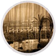 The Bloody Island Xviii Century Navy Hospital In Menorca Miniaturized Round Beach Towel
