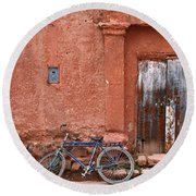 The Blue Bicycle Round Beach Towel