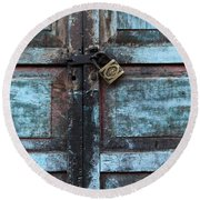 The Blue Door 2 Round Beach Towel