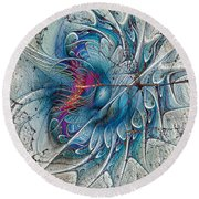 The Blue Mirage Round Beach Towel