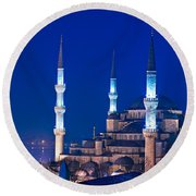 The Blue Mosque - Istanbul Round Beach Towel