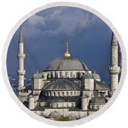 The Blue Mosque In Istanbul Round Beach Towel