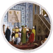The Blue Mosque Round Beach Towel by Jean Leon Gerome