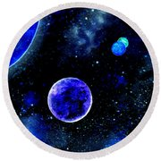 The Blue Planet Round Beach Towel