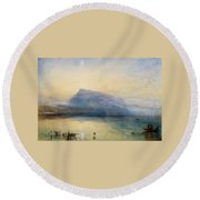 The Blue Rigi - Sunrise Round Beach Towel