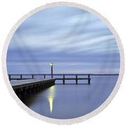 The Blues Lavallette New Jersey Round Beach Towel