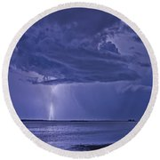 The Blues Round Beach Towel