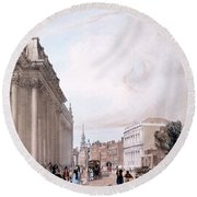 The Board Of Trade, Whitehall Round Beach Towel