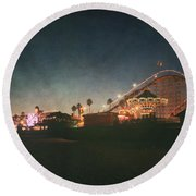 The Boardwalk Round Beach Towel by Laurie Search