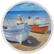 The Boaters Round Beach Towel
