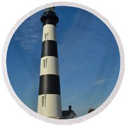 The Bodie Island Light House Round Beach Towel