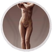 The Body Systems Female Round Beach Towel