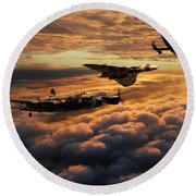 The Bomber Age  Round Beach Towel